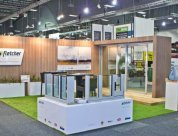 New stand design by Peek Exhibition to showcase Fletcher aluminium doors and windows systems