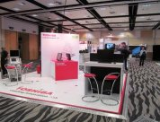 Toshiba new trade display stand for RANZCR2013 designed and built by Peek Exhibition