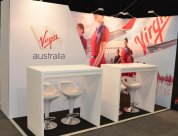 Peek build Virgin stand along with Design Team van den berg for Trenz 2015
