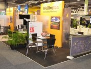 Wellington region Multi operator stand at MEETINGs 2015 design and build by Peek Exhibition
