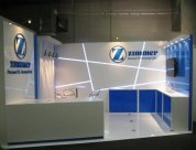 Zimmer trade display stand at NZOA 2012 designed and built by Peek Exhibition