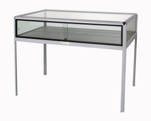 Showcase table glass peek exhibition for Showcase table design