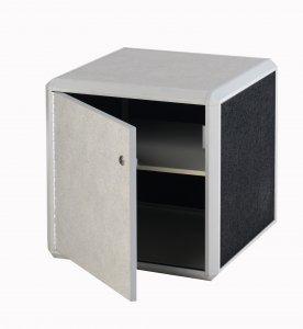 Lockable Cabinet Small Black