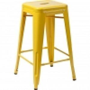 Tolix Bar Stool Yellow Peek Exhibition
