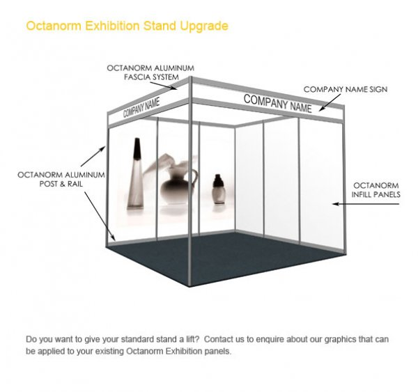 Exhibition Stand Measurements : Modular stands shell scheme with upgrade options peek