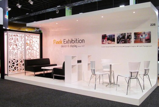 Peek Exhibition trade show stand MEETINGS 2014