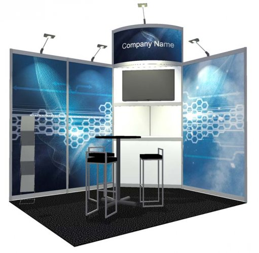 Corner Exhibition Stands Wa : Exhibition stand hire trade show stands for peek