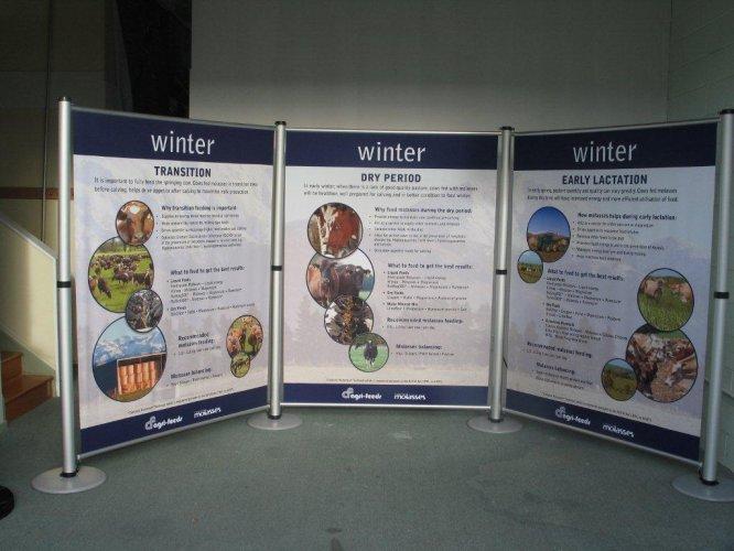 Portable Exhibition Display Boards : Exhibition creative signage & graphics & displays peek