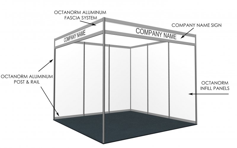 Exhibition Booth Quotation : Modular stands shell scheme with upgrade options peek exhibition